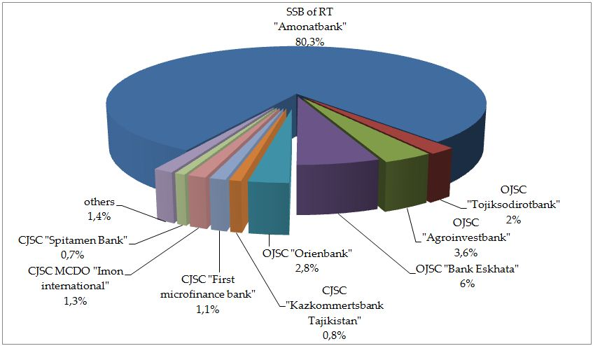 Share of payment cards, issued by credit institutions .JPG